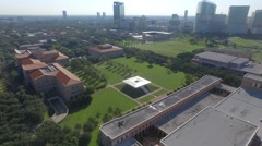 Aerial of Rice University in Houston, Texas Stock Footage
