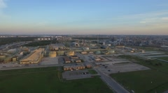 Aerial Shot of Refinery Stock Footage