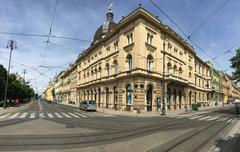 Architecture in Zagreb panorama Stock Photos