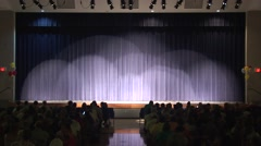 Lights on Stage Curtain - Waiting for show to start Stock Footage