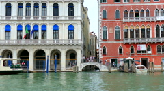 Bridge, Grand Canal, embankment Stock Footage