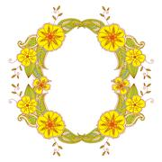 Colorful Mehendi frame Stock Illustration
