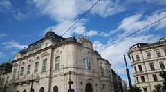 Beautiful old historical buildings Stock Photos