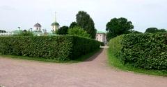Historic buildings. The park of Kuskovo. Stock Footage