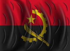 Angola wind flag Stock Illustration