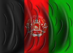 Afghanistan wind flag Stock Illustration