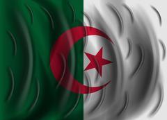 Algeria wind flag Stock Illustration