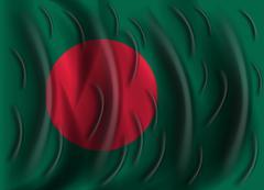 Bangladesh wind flag Stock Illustration