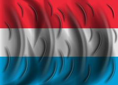 Luxembourg wind flag Stock Illustration