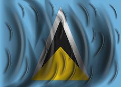 saint lucia wind flag - stock illustration
