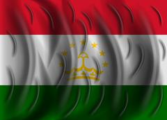 tajikistan wind flag - stock illustration