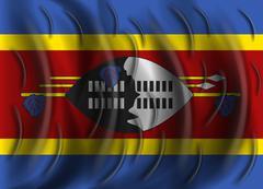 Swaziland wind flag Piirros