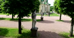 Statues in the Park of Kuskovo. Stock Footage