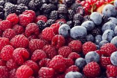 Fresh berries assortment - stock photo