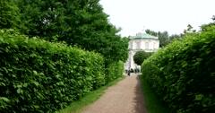 The path to the orangery. Kuskovo. Stock Footage