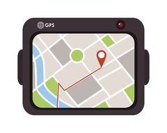gps device icon - stock illustration