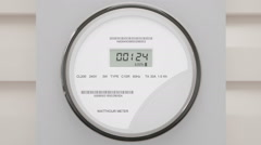 Electric Power Meter Stock Footage