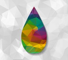drop low poly - stock illustration