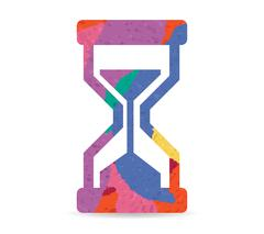 Hourglass drawn painted icon vector Piirros