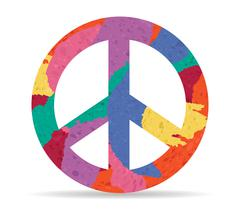 Peace drawn painted icon vector Stock Illustration