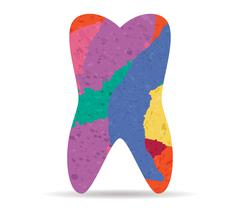 Tooth drawn painted icon vector Stock Illustration
