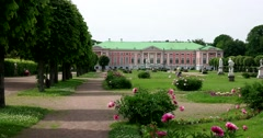 Sheremetev Palace . French formal garden. Kuskovo Stock Footage
