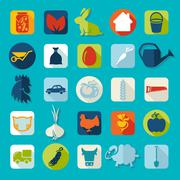 Set of agriculture icons Stock Illustration