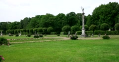 French formal garden. sculpture. Kuskovo Stock Footage