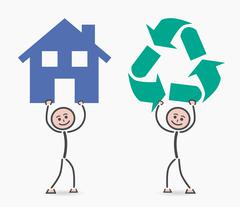 Recycling children at home Stock Illustration