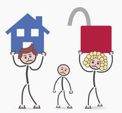 Insecure family house Stock Illustration