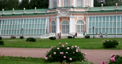 The orangery. The Park of Kuskovo. Stock Footage