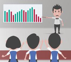 Negative finance meeting Stock Illustration