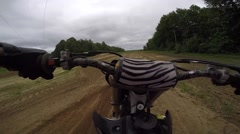 Motocross great pov over whoop section Stock Footage