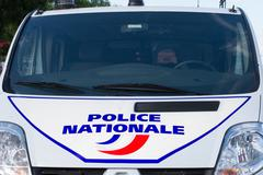 Side of a French police car or truck - stock photo