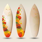 Vector Surfboards Designs Stock Illustration