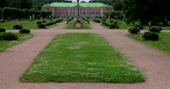 Sheremetev Palace . French formal garden.Kuskovo Stock Footage