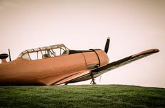Adventure in the sky, Old airplane, orange, North American T-6G Texan Kuvituskuvat