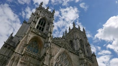 Time-lapse shot of York Minster Stock Footage