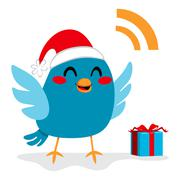 Santa Claus Bird - stock illustration