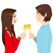 Anniversary Love Toast Stock Illustration