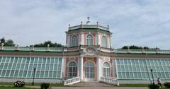 Big stone orangery. Kuskovo. Stock Footage