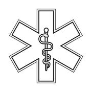 Rod of asclepius icon Stock Illustration