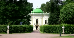 Hermitage in English landscape garden of Kuskovo Stock Footage