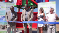 Opening ceremony Atmospheric CzechGlobe station at Kresin, Michal V. Marek Stock Footage