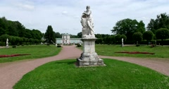 Sculpture in the park of Kuskovo Stock Footage