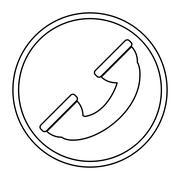phone sign icon - stock illustration