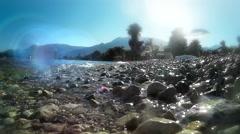 Beautiful Nydri beach, Lefkada island, Greece Stock Footage