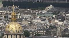 Dome des Invalides, Tomb Of Napoleon, Paris Stock Footage