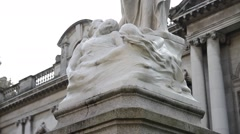 Belfast, Northern Ireland Statue. Belfast City Hall Stock Footage