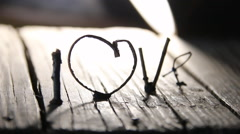 LOVE Happy Valentines day idea Stock Footage